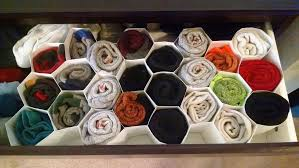picture of honeycomb sock organizer