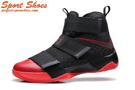 lebron red shoes. 2017 latest nike lebron soldier 10 sfg man basketball shoes black red