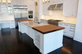 Solid Wood Floor In Kitchen Impressive Modern Kitchen Scheme Offers Glossy Black Floor Surface