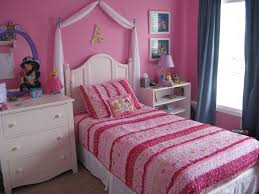 Pink And Brown Bedroom Decorating White Wooden Bed Having Brown Bed Sheet White Teenage Bedroom