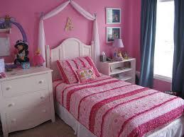 Pink Bedroom For Teenager White Wooden Bed Having Brown Bed Sheet White Teenage Bedroom