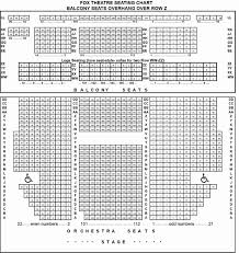 Seat Number Fox Seating Chart Seating Chart For Fox Theater