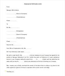 Beautiful Employment Verification Letter Template Word Best Sample