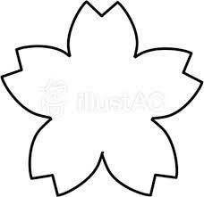 すっきり桜の白黒フレームイラスト No 437857無料イラストなら