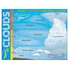 Trend Enterprises T 38298 Learning Chart Types Of Clouds
