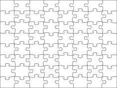 Printable Jigsaw Puzzle Maker Image Detail For Blank Jigsaw Puzzle Template Free