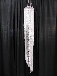 52 round clear beaded chandelier