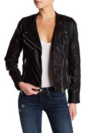 image of blanknyc denim vegan faux leather moto jacket