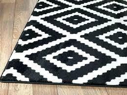 black and white rug runner area rugs damask s kilim