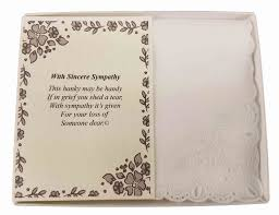 personalized sympathy bereavement poetry woman s handkerchief gift keepsake ideas for loved one wedding collectibles