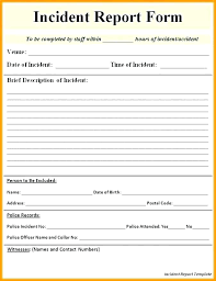 Accident Report Template Word Incident Report Templates Doc