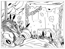 Slepping Beauty Fairy Tales Adult Coloring Pages