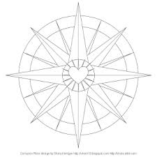 Small Picture Dont Eat the Paste Compass Rose coloring page