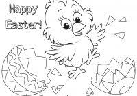 Easter Chick Coloring Pages Printable With Easter Coloring Page