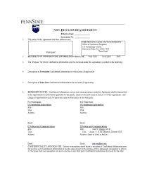 Nda Template Agreement Standard Nda Agreement Homeish Co