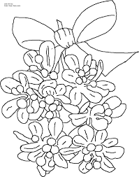 Small Picture Christmas Mistletoe Coloring Page
