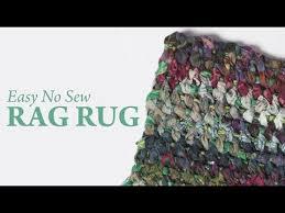 easy no sew rag rug