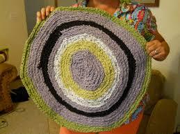learn the formula to make a circle crochet rag rug part 2