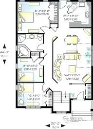 house plans with open floor plan. 3 Bedroom Bungalow Plans Open Floor Level Simple Home Plan With . House