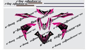 Mio I 125 Magenta Sticker Design Decals Stickers For Yamaha Mio I 125 Full Decals Monster Magenta