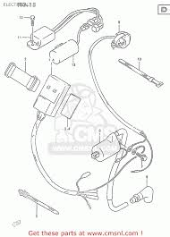 suzuki rm250 1999 x electrical schematic partsfiche electrical schematic