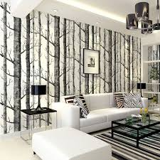 Small Picture Aliexpresscom Buy Birch Tree pattern non woven woods wallpaper