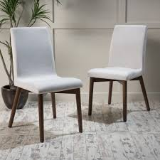 dining room fascinating modern dining chairs fabric seat and back upholstery light grey color wood legs