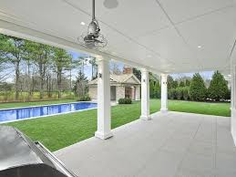 patio with square pool. Covered Patio With Columns Square Pool L