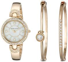 wrist watches archives hy5deals anne klein women s ak 1960gbst swarovski crystal accented gold tone bangle watch and bracelet set