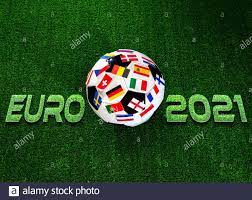 Euro 2021 football championship. Soccer ball with flags of European  countries Stock Photo - Alamy
