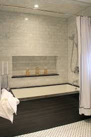 toronto gray shower curtain with white soaking bathtubs bathroom contemporary and marble tile recessed lighting