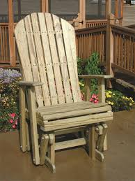 luxcraft wood adirondack glider chair by dutchcrafters amish furniture inside gliding chairs design 0