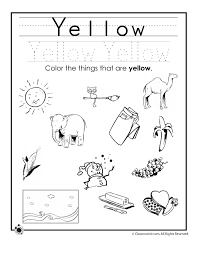 Small Picture Learning Colors Worksheets For Preschoolers Color Yellow Worksheet