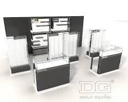 Optical Display Stands OP100 Black Temper Glass Optical Display UnitsGuangzhou Dinggui 32