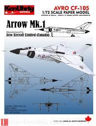 avro arrow paper model 1 72 avro arrow paper model