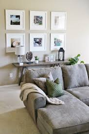 Living Room Decor // Ikea Picture Frame Gallery Wall // Sofa Table Decor /