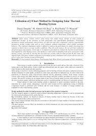 Pdf Utilization Of F Chart Method For Designing Solar