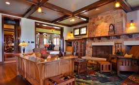 Ranch Living Room Living Room Home Ranch Style Interior With Wooden Furniture And