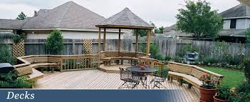 Backyard Deck Design Unique Houston Custom Decks Flagstone And More Creative Outdoor Designs