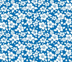 Hawaiian Pattern Fascinating Hawaiian Flower Hisbiscus Pattern Blue And White Tropical Lulau
