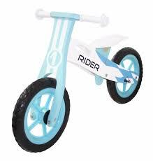 kobe wooden balance bike blue rider run glide stride beginner bicycle