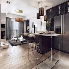 stunning lighting. Luxurious Apartment With Dark Interiors And Stunning Lighting P