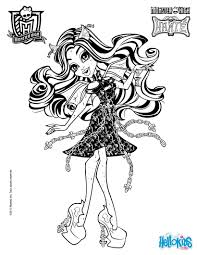 Small Picture Coloring Pages Monster High Free Printables Free Printable