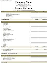 Business Income Statement Template 9 Templates Word Excel Pdf ...