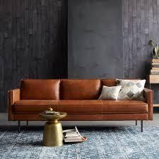 furniture like west elm. Axel Leather Sofa (226 Cm) - Saddle Furniture Like West Elm
