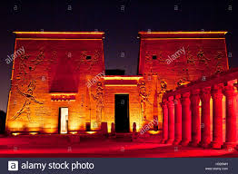 Sound And Light Show Philae Temple Sound And Light Show On Isis Temple And Eastern Colonnade In