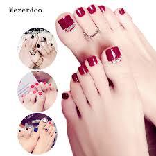 Fresh Style Toe Fake Nails 3d Foot Full Toes Nail Art Tips False Nails For Lady Girls Toenails Press On Nail French Nails Nails Design From Xiatian3