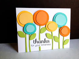 17 best images about ♥ thank you cards ♥ circles two tone scribble flowers die cuts look cute on this handmade thank you card