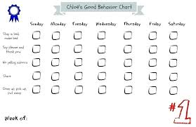 Sticker Charts For Preschoolers Kids Behavior Chart Template Excel Responsibility Chart Awesome
