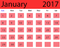 January 2017 desktop calendar – Free Calendar Templates